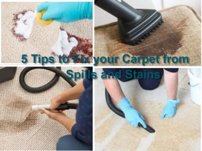 5 Tips to Fix your Carpet from Spills and Stains