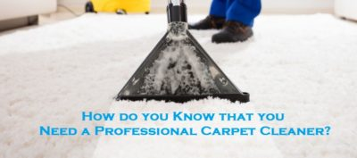 How do you Know that you Need a Professional Carpet Cleaner?