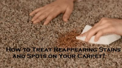 How to Treat Reappearing Stains and Spots on Your Carpet?