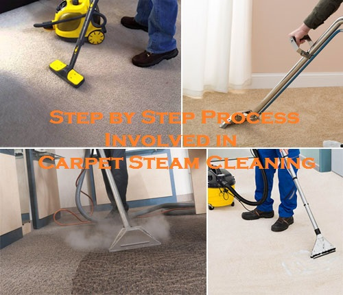 Step by Step Process Involved in Carpet Steam Cleaning