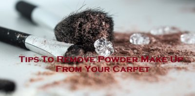 Tips To Remove PowderMake Up From Your Carpet
