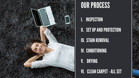 What are the processes involved in carpet cleaning_