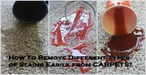 How To Remove Different Types of Stains Easily From Carpets?